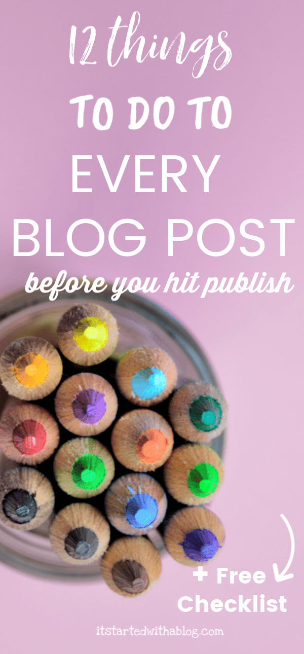 Optimize your blog posts with SEO and explode your blog traffic. After you write a blog post, follow this checklist for 12 things to do to your blog post before you hit publish, and 8 things to do with the blog post after it is published.