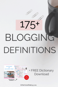 blogging words and definitions