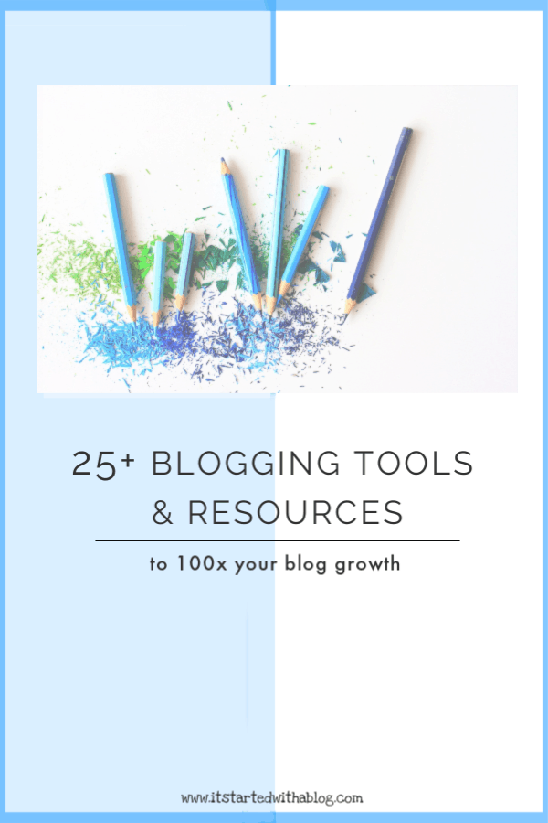 Using the correct tools and resources to build your blog is crucial for blog growth #blogtraffic #startablog #bloggingtools