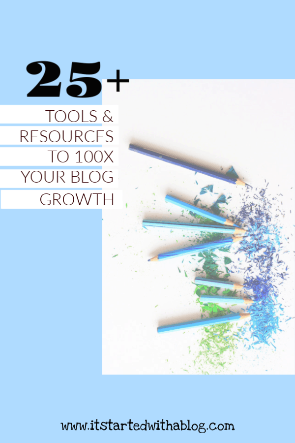 Blog tools and resources can 100x your blog growth when used the right way #bloggrowth #blogtraffic #startablog