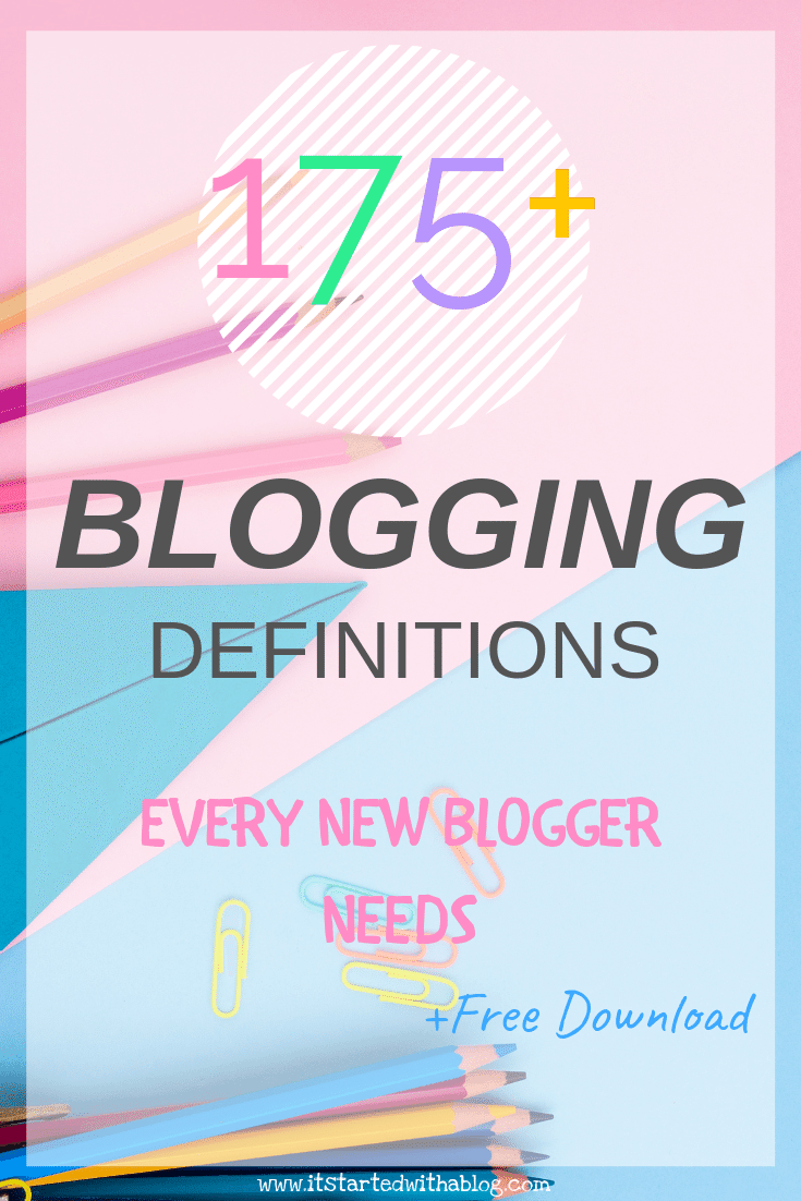 Blogging Terms Blogger's Dictionary