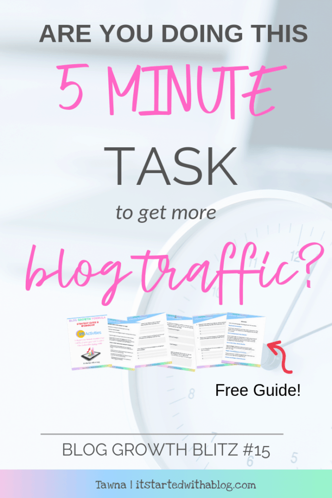 how to get more traffic to your blog with this quick task