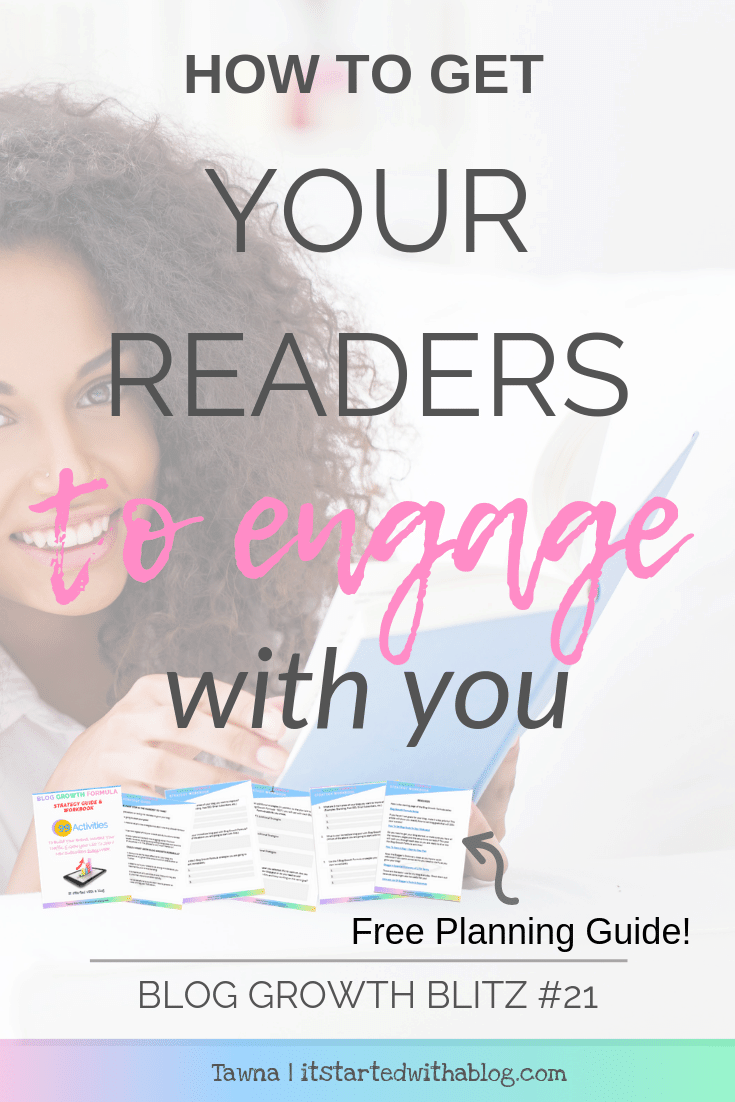 increase blog reader engagement by creating a challenge and participate with them