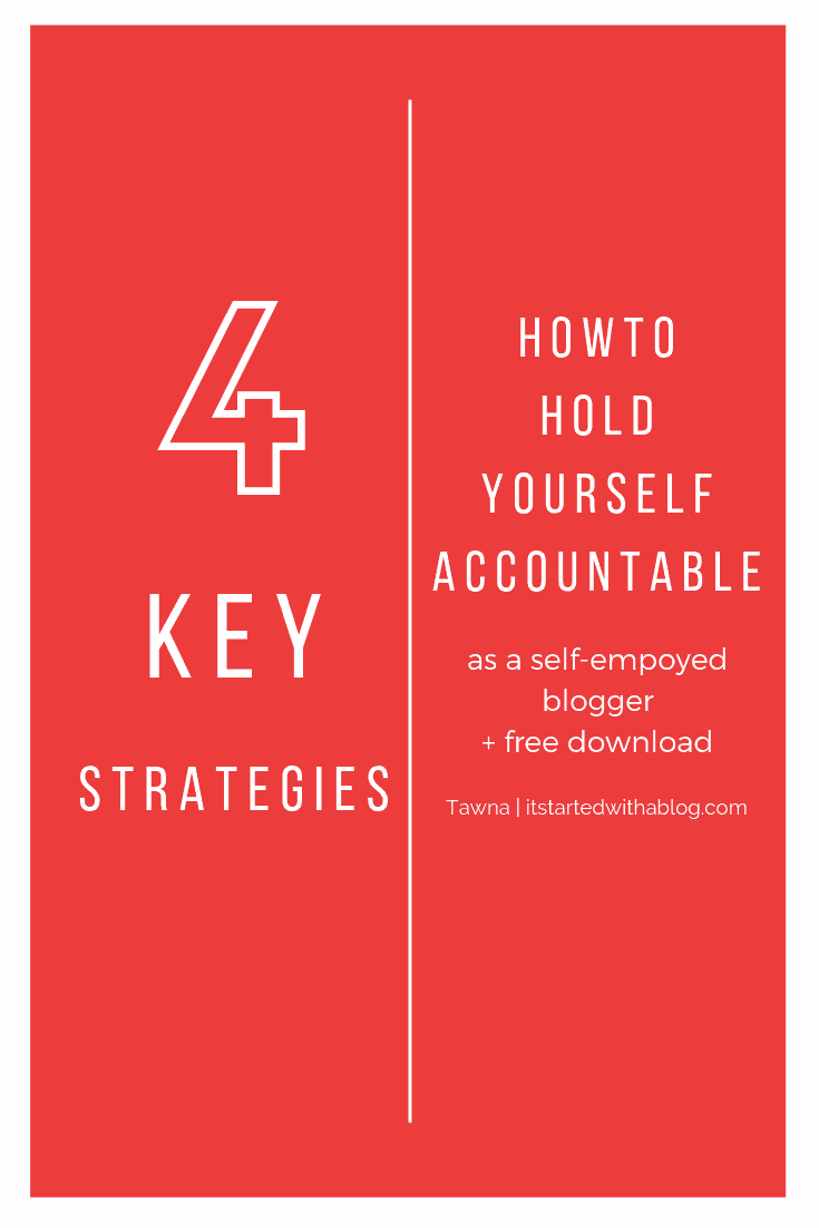 blog strategy to stay accountable