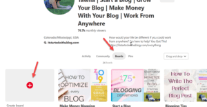 demonstration of how to pin to pinterest board