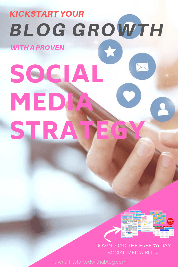 a social media strategy will accelerate your blog's growth but you need to have a solid plan to post consistently